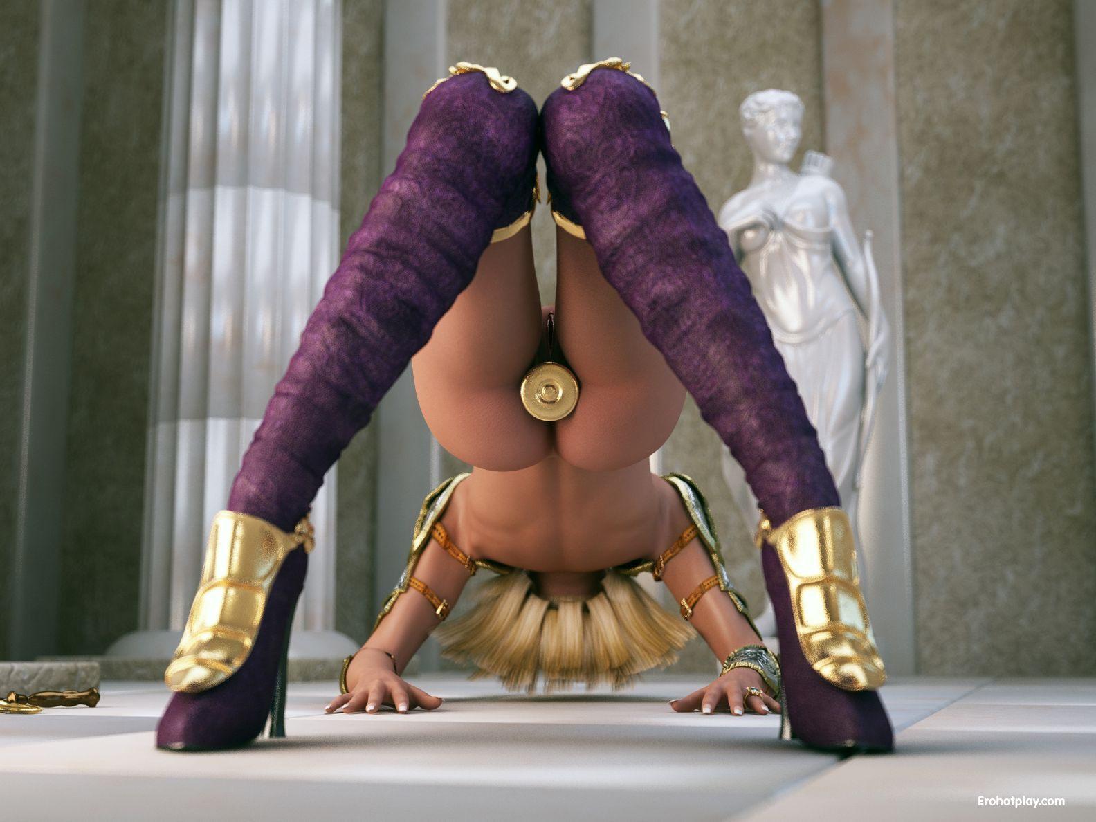 Elf girl massive cock fucking tits