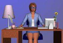 Дамский угодник в кабинете начальницы