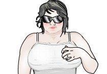 Эрогенные зоны толстушки