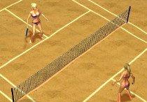 Красотки играют в теннис
