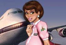 Прон с красивой стюардессой