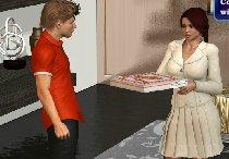 Разносчик пиццы получает сиськатый бонус
