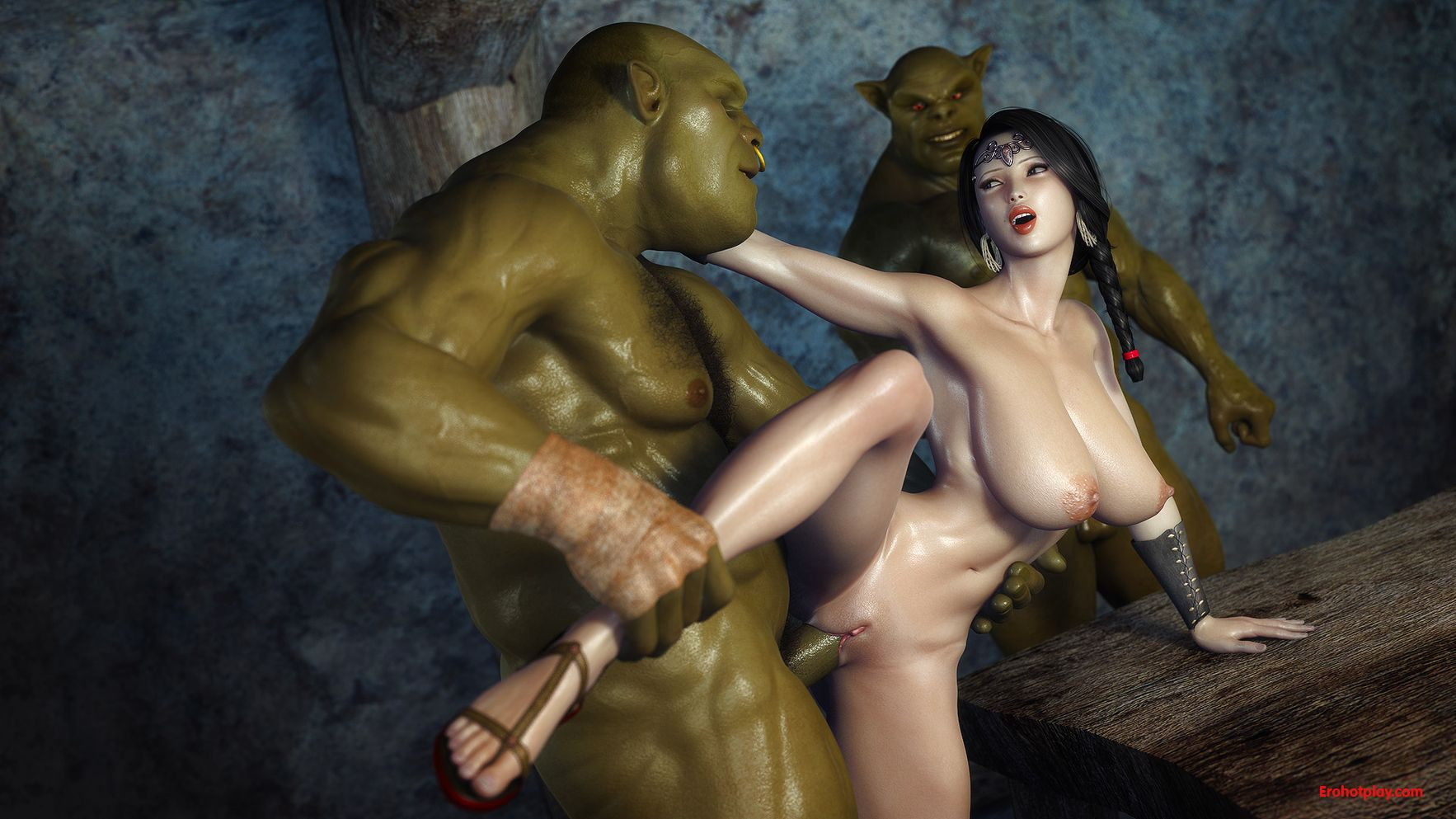 3d elf princess gangbanged by orcs xxx sex gallery