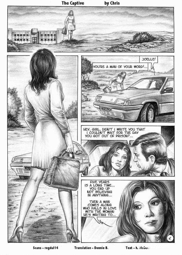 Пленница - комикс про похищение и изнасилование знойной красотки