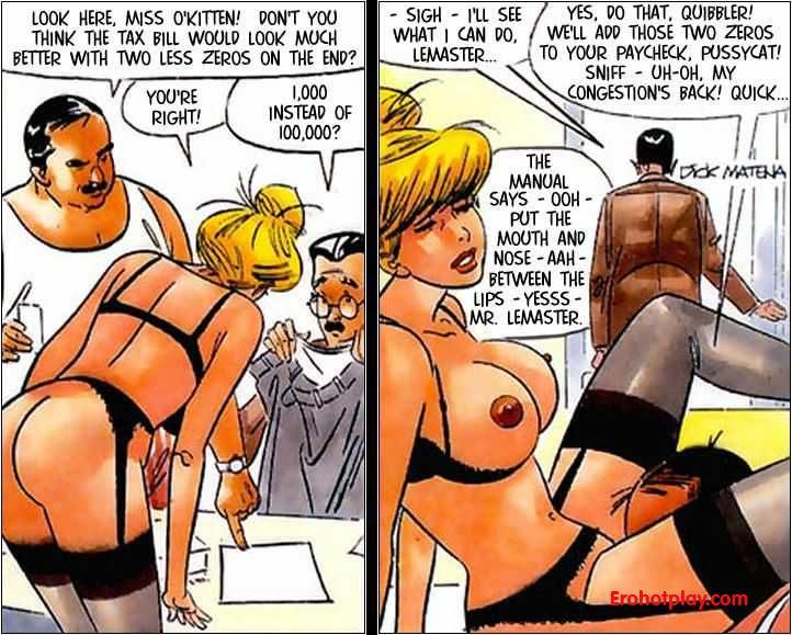 Секретарши порно комиксы