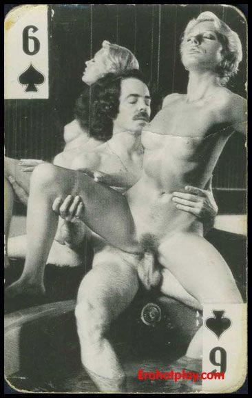 Колода винтажных порно карт чернобелых  Взрослые