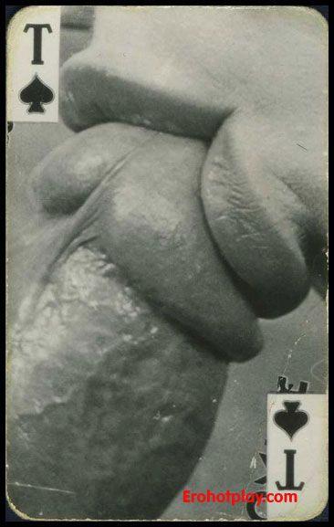 Колода винтажных порно карт (черно-белых)