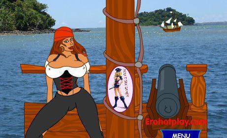 Секс с капитаншей пиратского корабля после удачной охоты на корабли
