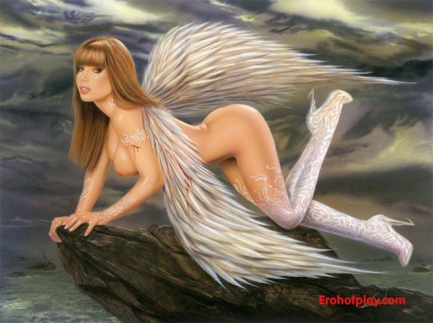 Рисованные девушки-ангелы (эро и порно)