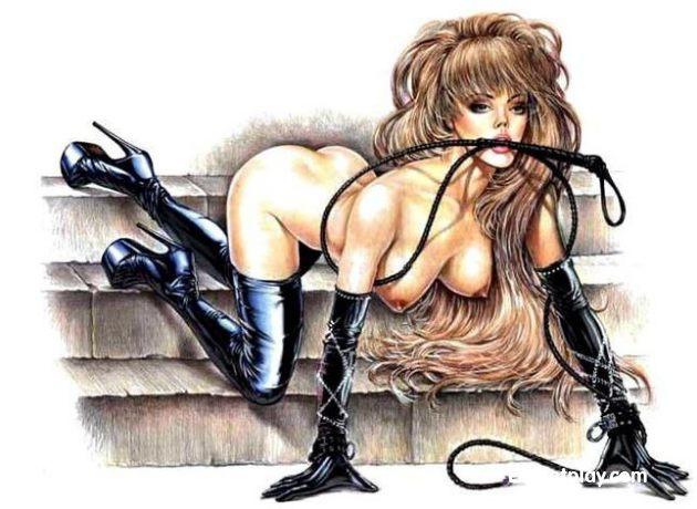 Порно рисунки жанра BDSM (садо-мазо)